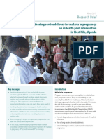 Strengthening service delivery for malaria in pregnancy- An MHealth pilot intervention
