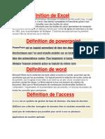 Définition de Excel.docx