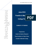 Franklin & Marshall Poll - June 2018