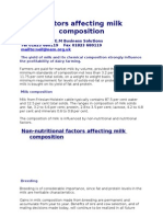 Factors Affecting Milk Composition