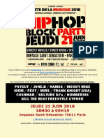 Programme Hip Hop Block Party 2018
