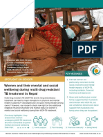 Women and their mental and social wellbeing during multi-drug resistant TB treatment in Nepal