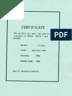 Certificate Genset