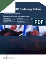Nephrology Fellow Survey Report 2016