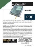 HH 185 Solar Wax Melter