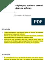 Desafios e Estratégias Para Motivar o Pessoal de Teste de Software