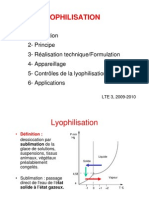 Cours Lyophilisation N. Faisant 09