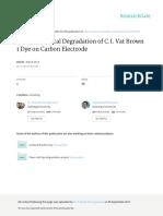 Electrochemical Degradation of C.I. Vat Brown 1 Dye on Carbon Electrode ( 2013)