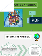 IDIOMAS DE AMÉRICA CUARTO BÁSICO