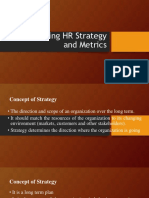 Developing HR Strategy and Metrics