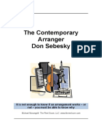 SEBESKY, Don - The Contemporany Arranger
