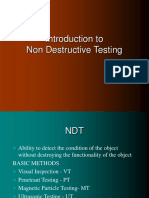 Introduction to Non Destructive Testing