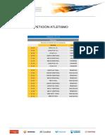 Horaris de totes les competicions  de Tarragona 2018