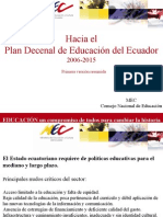Ecuador Hacia Plan Decenal