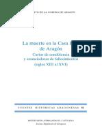 La muerte en la Casa Real de Aragón