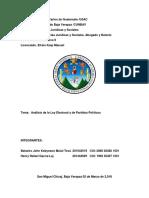Trabajo Ley Electoral.. Administrativo II