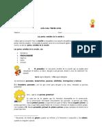 Guía Para Tercer Nivel Pronombre Posesivo Demostrativo