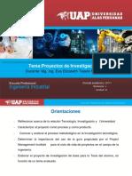 Diapositivas Proyectos de Investigacion III Unidad III Ok