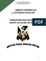 Reglamento Convivencia Escolar Santa Catalina 2017 (Corrección 2)