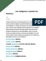 (Web) Blog Desacato. 115 Escritores Indígenas e Poetas Da América