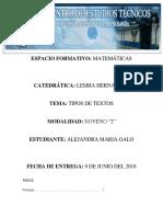 informe matematico