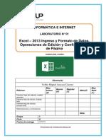 Lab 01 - Excel 2013 - Ingreso y Forma. Yoffre Miguel Anccasi Caceres