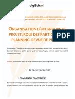 Organisation d'Un Groupe, Projet Etc..