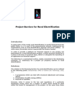 Project Barriers for Rural Electrification