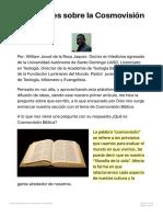 Precisiones Sobre La Cosmovisio_n Bi_blica Reflejosnews
