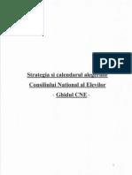 Strategia Si Calendarul Alegerilor Consiliului Elevilor (Pe Scoala, Judetean, National)