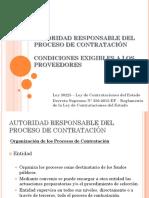 Autoridad Responsable Del Proceso de Contratacion y Condiciones Exigibles Al Contratista (1)