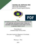 Tesis Optimización Del Funcionamiento Motor de Induccion