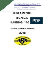 Reglamento Técnico 110 Cc Standard Escuelita - 2018 - ABK