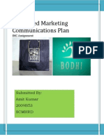 IMC/integrated marketing communications plan for apparel brand bodhi