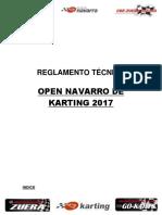 Reglamento Técnico Open Navarro de Karting 2017 Final