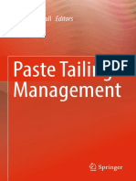 Paste Tailings Management