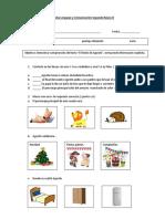Prueba Lenguaje y Comunicación Segundo Básico B Libro El Festin de Agustin