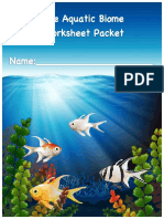 the aquatic biome packet