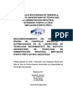 REACONDICIONAMIENTO DEL TABLERO DE PRUEBA DE CONTROLES DISCRETOS Y AUTOMATIZACIÓN EN EL LABORATORIO DE TECNOLOGÍA INSTRUMENTISTA DEL INSTITUTO UNIVERSITARIO DE TECNOLOGÍA DE ADMINISTRACIÓN INDUSTRIAL AMPLIACIÓN PUERTO PÍRITU ESTADO ANZOÁTEGUI