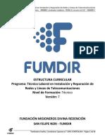11.V 7-  Técnico Laboral en Instalación y Reparación de Redes y Líneas de Telecomunicaciones