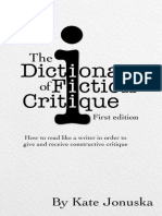 The Dictionary of Fiction Critique_ How to - Kate Jonuska