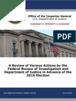 2016 Election DOJ IG report