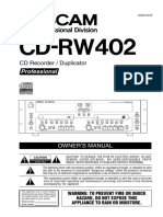 CD RW402 Manual