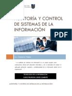 Auditoría Y Control de Sistemas de La Información