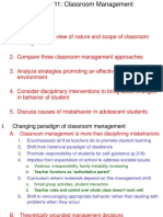 Lecture Ch 11 Classroom Management