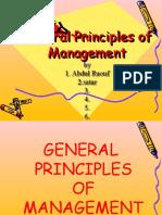General Principles of Mgt