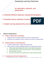 Lecture Ch 14 Assessing Learning Objectives