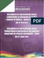 347553044 Reglamento de Participacion Social Rm Nº 750 Nº 1000 PDF