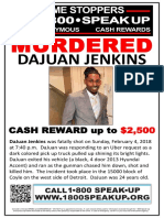 DaJuan Jenkins - Crime Stoppers Poster