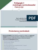 9 Curriculum 4 Proiectarea Curr I